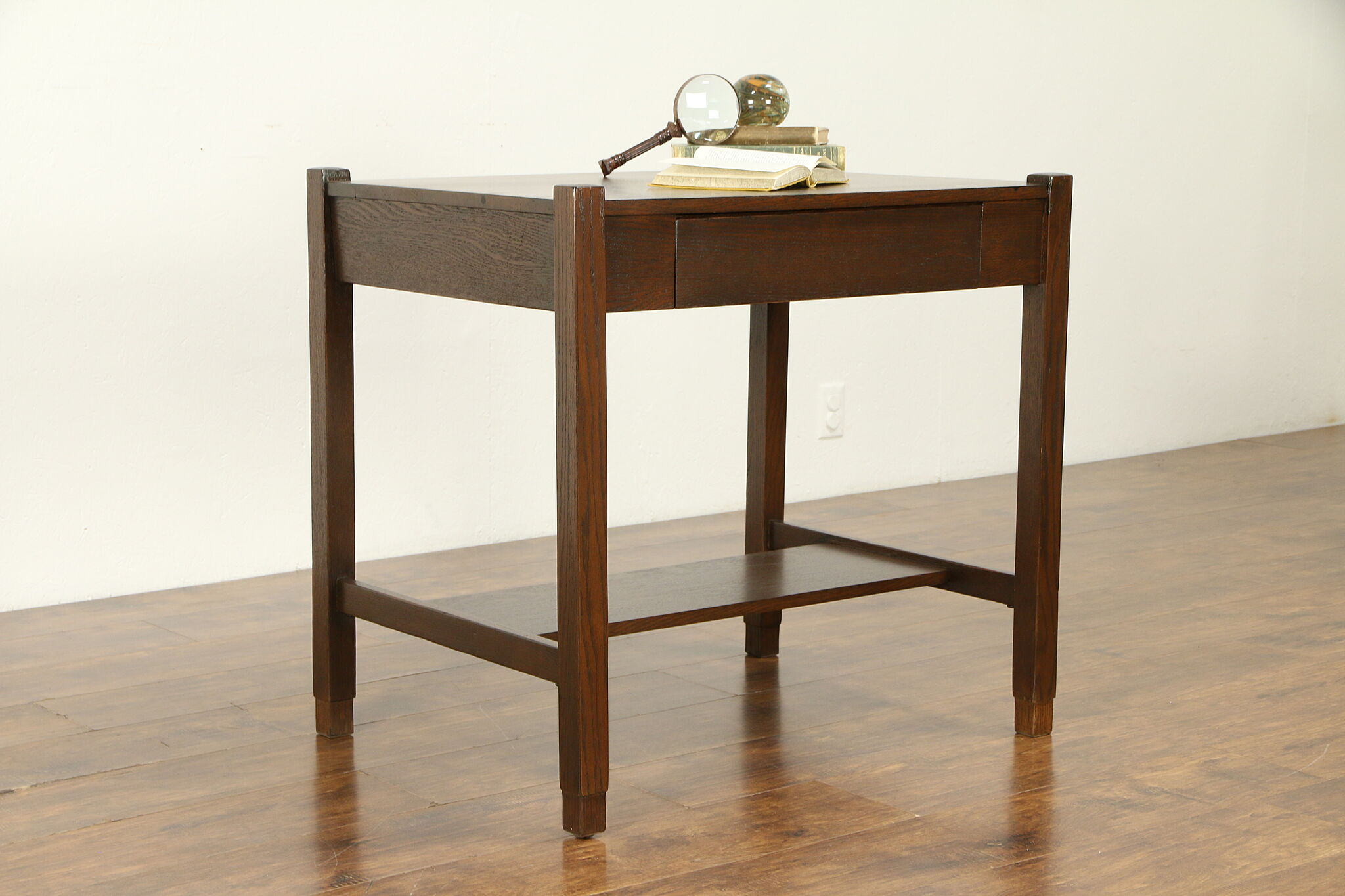 Sold Cadillac Antique Desk Arts Crafts Mission Oak Craftsman Library Table 31882 Harp Gallery Antiques Furniture