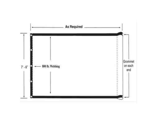 "7'6"" Wide Lumite Tarps - For hauling asphalt, rock, sand, & debris (Not completely waterproof)-430"