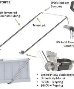 COMPLETE ELECTRIC WIND UP & ALUMINUM ARM SYSTEM FOR BODIES UP TO 40' -453