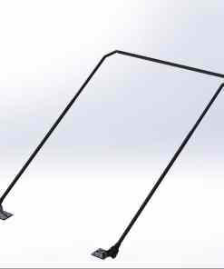 Steel Tarp Arm System with Bent Arms for Roll-off Containers-0