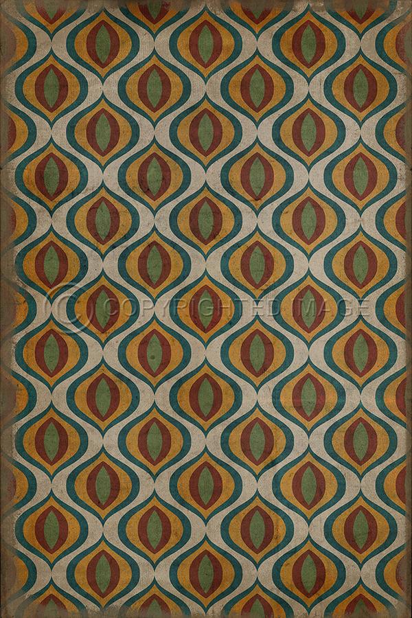 vintage inspired patterned flooring