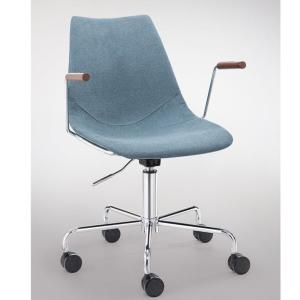 light blue adjustable rolling office chair
