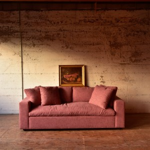 sofa and painting in living room