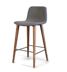 Grey mid century modern style stool