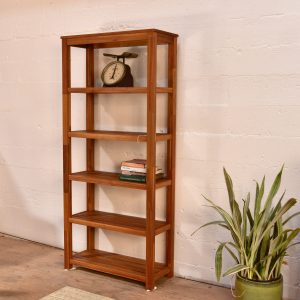 Wooden Open Shelf Book Case