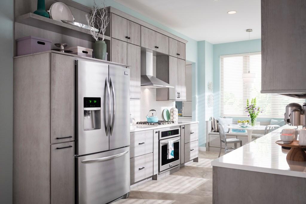 Decorative range hood over kitchen range