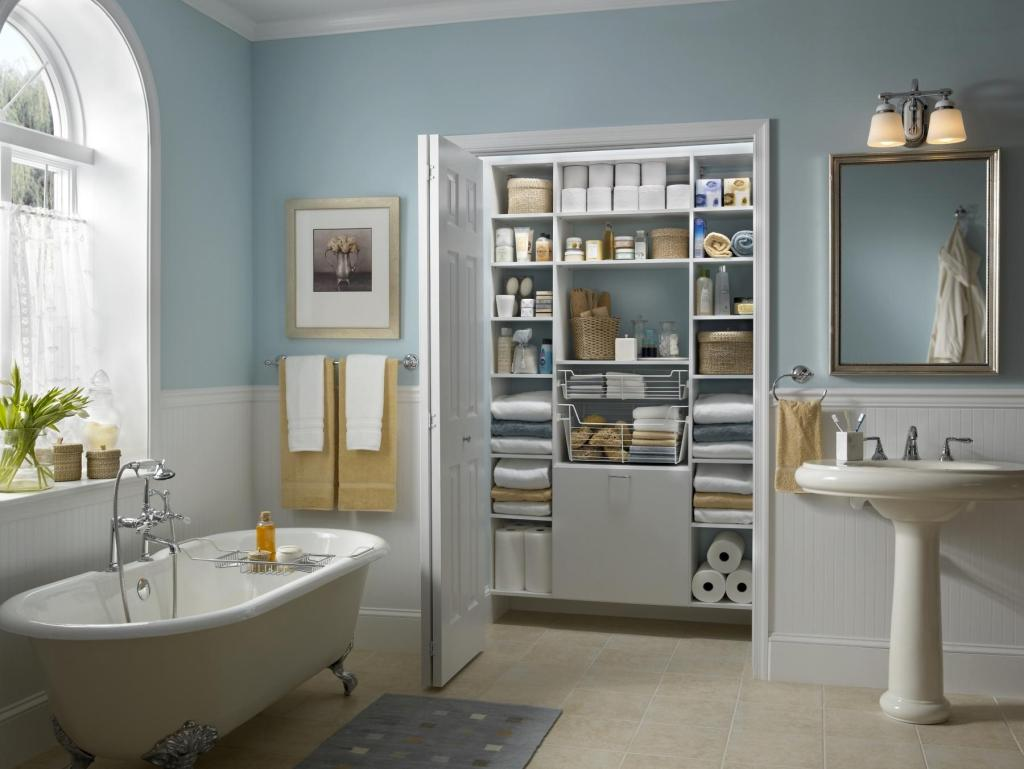 closetmaid bathroom organization system