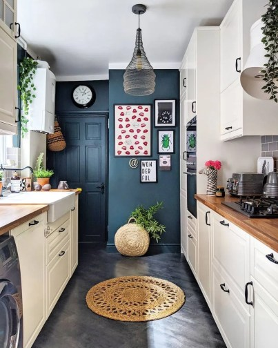 Pop of Color in a Small Kitchen