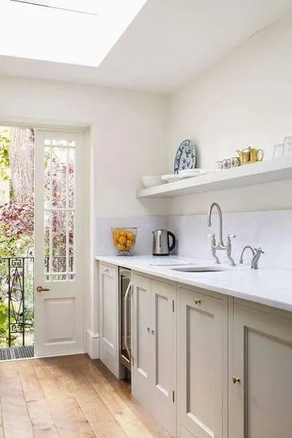 French Doors in a Small Kitchen