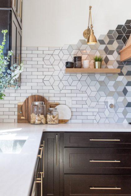 Geometric Tile Backsplash
