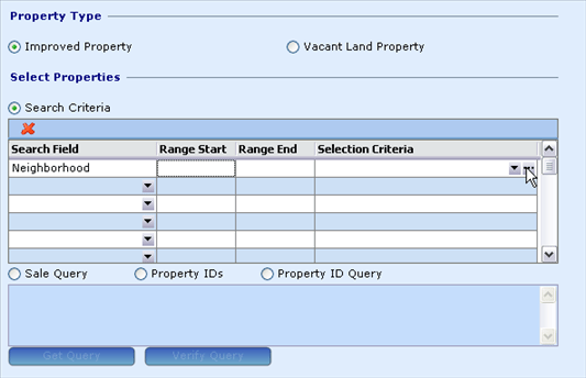 Comparable Sales, Sales Ratio Report Wizard 1, Select Props section, 9032x