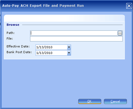 Auto-Pay Ach File Payment Run