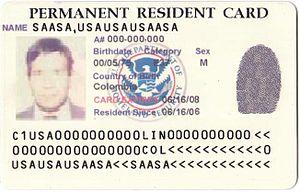 بطاقة الإقامة المقيم الدائم