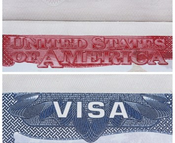 Visa Stamp USA