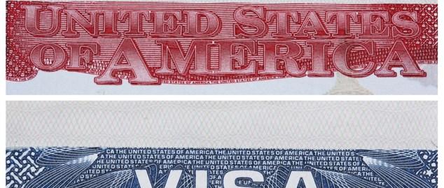 Visa Stamp USA