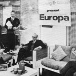 Lebus Europa furniture range on display at the Ideal Home exhibition 1968