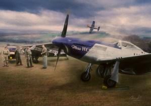 Pilots admiring an aircraft