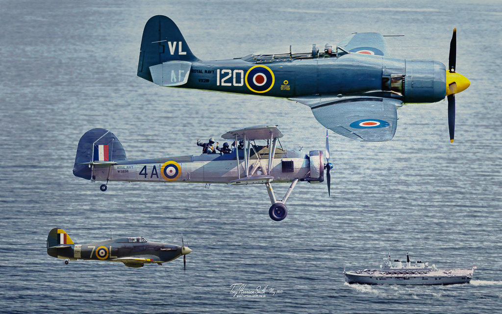 Formation of Fleet Air Arm aircraft