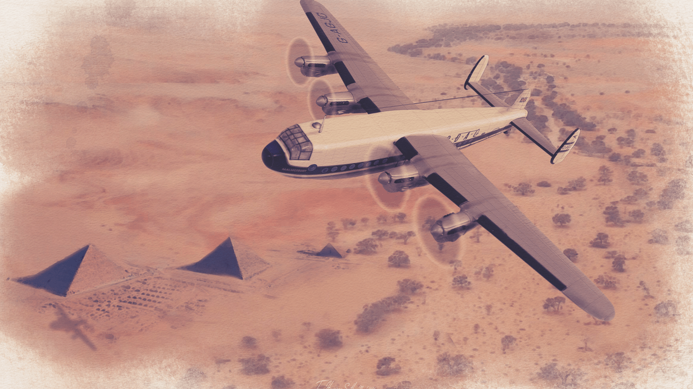 Avro York flying over Africa