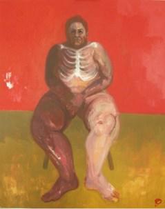 'Radiographie d'une Grosse Femme' by M. Harrison-Priestman - acrylic on linen, 100 x 80 cm, 2017.