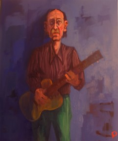 'Le Joueur de Guitare' by M. Harrison-Priestman - oil on linen, 60 x 50 cm, 2017.