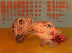 'Le Mouton no:3' by M. Harrison-Priestman - oil on linen, 80 x 100 cm, 2016.