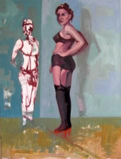 'Métamorphose - Découvrant le Travesti' by M. Harrison-Priestman - oil on linen, 80 x 60 cm, 2016.
