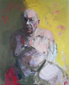 'Homme Gros' by M. Harrison-Priestman - acrylic on linen, 50 x 40 cm, 2017.