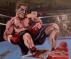 'Le Boxeur no:4' by M. Harrison-Priestman - oil on linen, 50 x 60 cm, 2019.