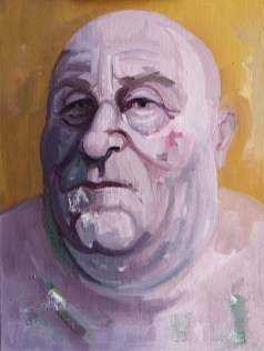'Homme Gros no:4' by M. Harrison-Priestman - oil on linen, 45 x 60 cm, 2019.