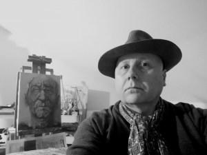 Portrait du peintre M. Harrison-Priestman dans son nouvel atelier