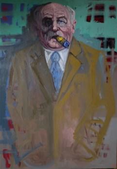 'Le Magnat' by M. Harrison-Priestman - oil on linen, 80 x 60 cm, 2019.