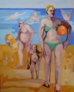 'Flottabilité' by M. Harrison-Priestman - oil on linen, 80 x 50 cm, 2020.