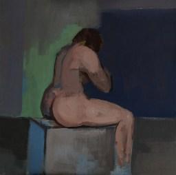 'Étude de nu' by M. Harrison-Priestman - acrylic on canvas, 40 x40 cm, 2020.