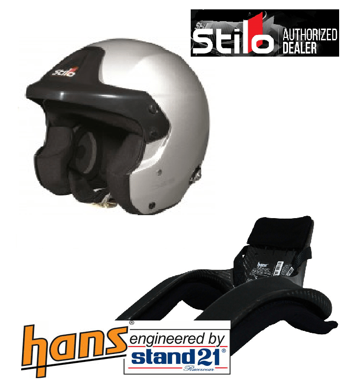 Stilo Helmet and Hans device package