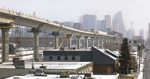 Calgary's new West LRT is almost completely grade-separated. Image: Harris Rebar