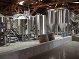 The Spadoni brewing equipment