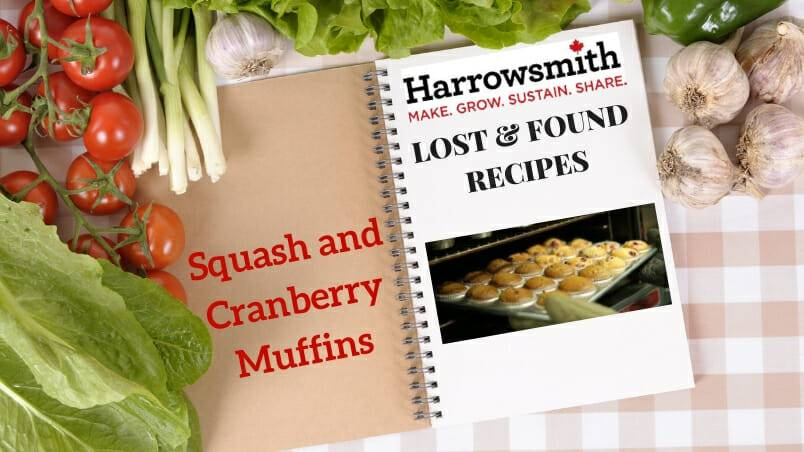 Squash and Cranberry Muffins