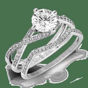 Harry Glinberg Jewelers - 18K White Gold Wedding Set