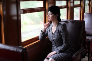 Travelling by steam train back in the day - this image is from http://missvictoryviolet.com/2015/02/vintage-trains-and-tweed/