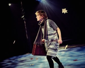 Emily May Smith as Duckie sets out to discover herself in Travelling Light's The Ugly Duckling. Mark Dawson Photography