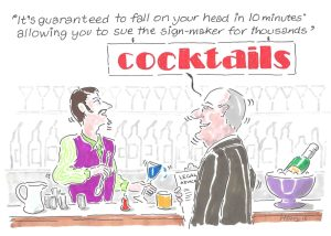 2016 03 April SignLink cartoon cocktail sign low res