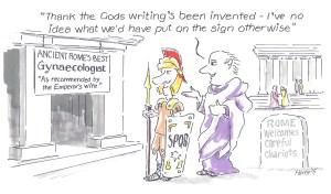 SignLink cartoon Romans 001
