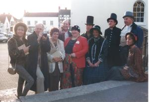 The cast of House on the Square, the play that started ACT