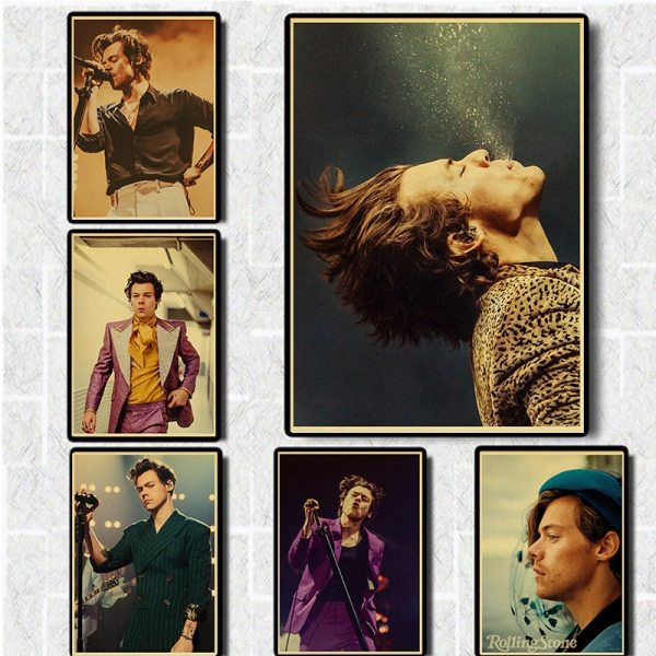 Singer Harry Style Poster Wall Art