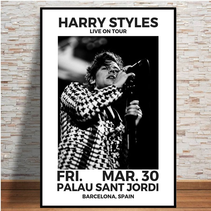 Harry Styles 2021 Tour Music Poster