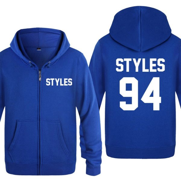 Harry Styles Long Sleeve Men's Zipper Jacket Sweatshirt Coat