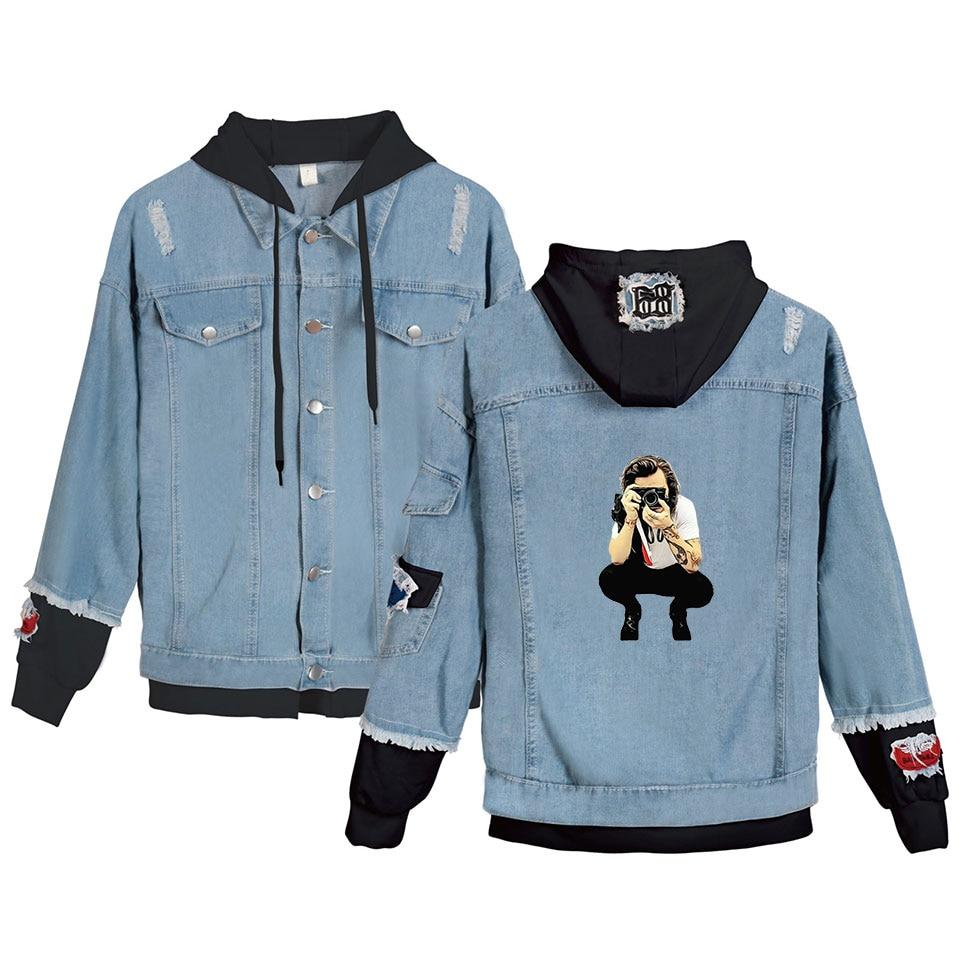 Harry Styles Denim Jacket Men Women Hooded Denim Jacket