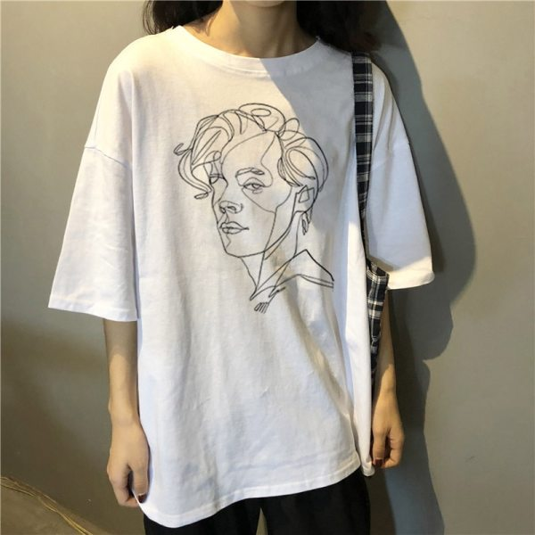 Harry Style Art Painting Women's T-shirt