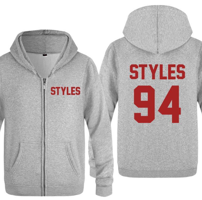 Harry Styles Long Sleeve Men's Zipper Jacket Sweatshirt Coat